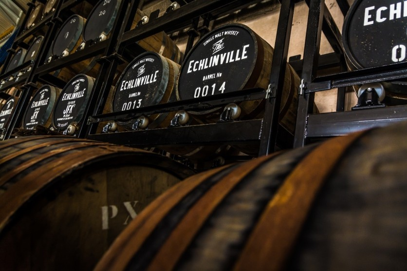 Echlinville's first casks proudly on display