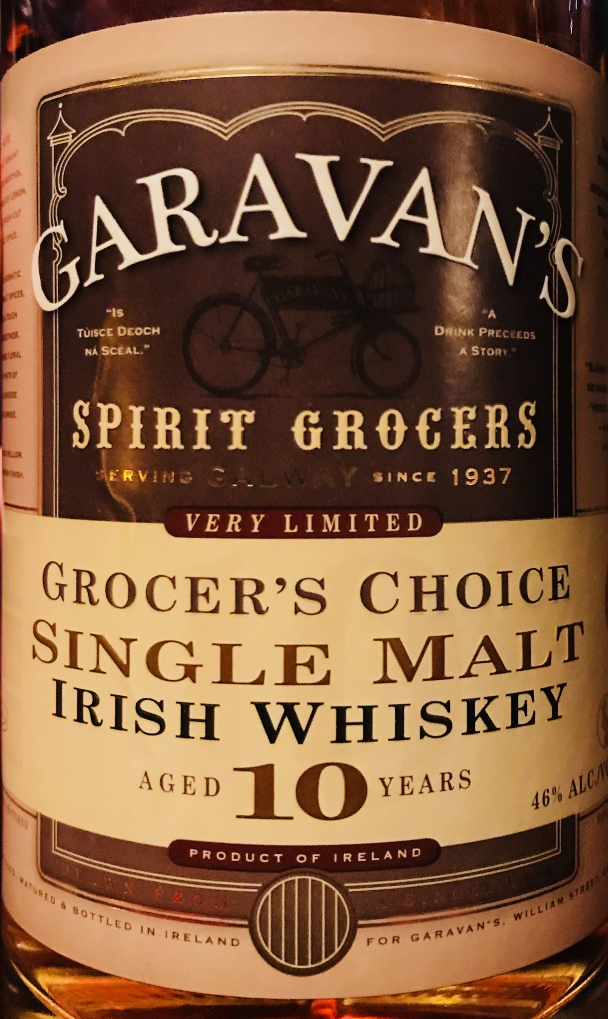 Garavan's Grocer's Choice 10yr old Single Malt