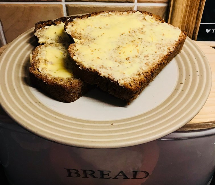 Homemade brown bread with a touch of Irish…..